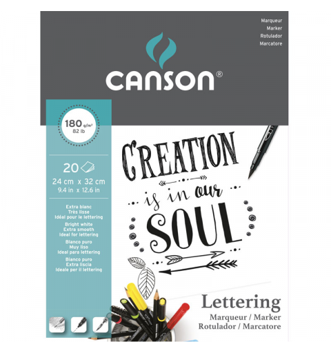 BLOCCO CANSON LETTERING...