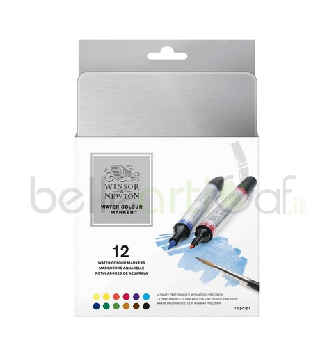 WATER COLOUR MARKER W&N - 12PZ