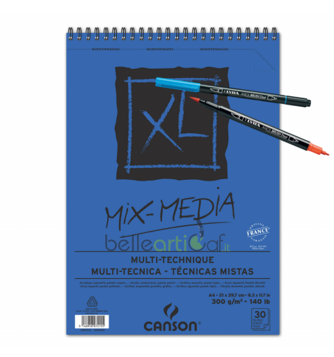 BLOCCO MIX MEDIA A4 30FF...